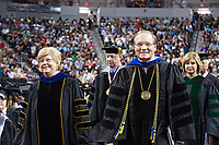 President Mark E. Keenum during the commencement procession.<br />  (photo by Beth Wynn / &copy; Mississippi State University)