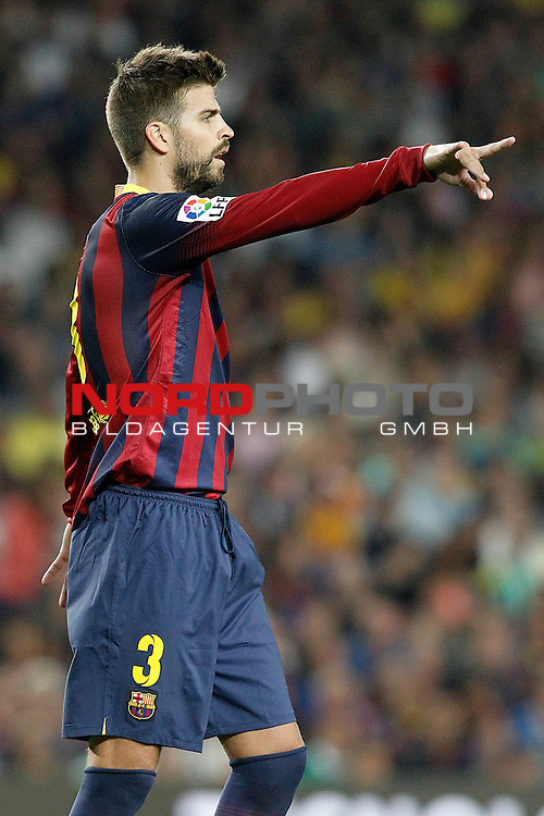 FC Barcelona's Gerard Pique during Supercup of Spain 2nd match.August 28,2013. Foto © nph / Acero)