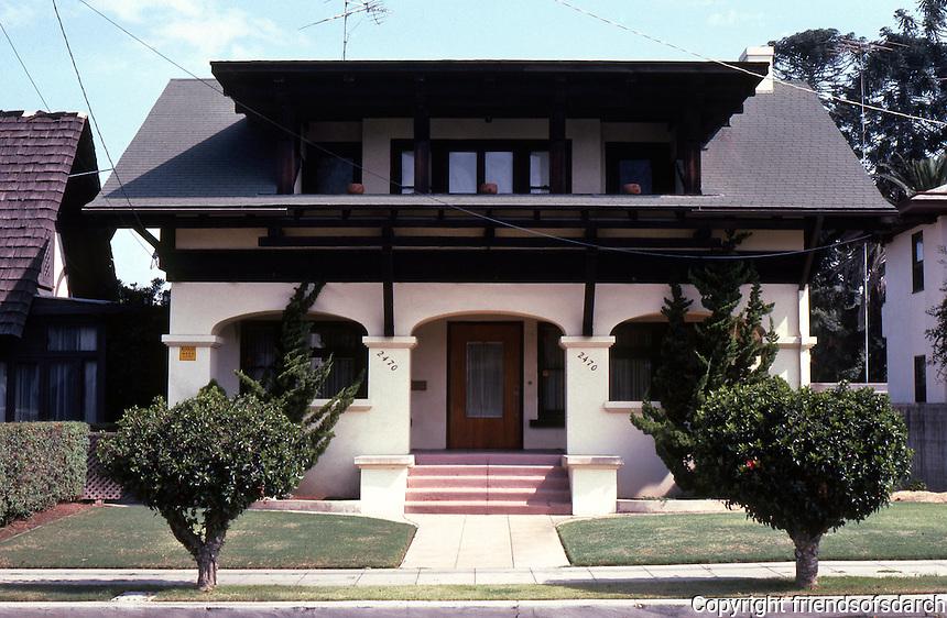San Diego: Fehlman House, 2470 A Street, 1910. Del W. Harris. (Photo '82)