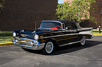 1957 Trailered Restored Senior (#37) – 1957 Chevrolet Bel Air Convertible registered to Bob Thompson is pictured during 4th State Representative Chevy Show on Thursday, June 30, 2016, in Fort Wayne, Indiana. (Photo by James Brosher)