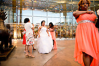 Bride and bridesmaids at the Aria. Las Vegas, Nevada, USA