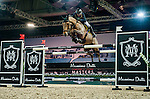 Rider in action at the Massimo Dutti Trophy during the Longines Hong Kong Masters 2015 at the AsiaWorld Expo on 15 February 2015 in Hong Kong, China. Photo by Juan Flor / Power Sport Images