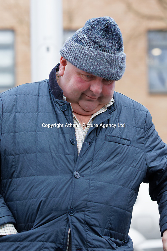 "Pictured: Sean Burns arrives at Swansea Magistrates Court, Wales, UK. Thursday 13 February 2020<br /> Re: Sean Burns, who kept more than 200 animals in squalid conditions has been jailed in ""one of the worst examples"" of neglect, has been jailed for 20 weeks by Magistrates' Court in Swansea, Wales, UK.<br /> Police found the animals including two puppies and piglet which had died on Bramble Hall Farm near Pembroke Dock, west Wales on 27 January 2019.<br /> Most of the 80 sheep, 20 horses, a donkey, 58 dogs and 53 pigs were without adequate space, food or water.<br /> Burns, 49, was jailed for 20 weeks and ordered to pay a £115 surcharge by the court.<br /> District Judge Christopher James told Burns he had ""deliberately"" inflicted suffering over a ""significant period of time"".<br /> He told Burns the condition of the animals was ""extremely poor"", and that some dogs and puppies had ""died due to the neglect suffered at your hands""."