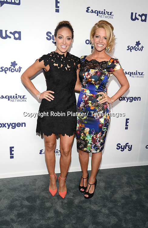Melissa Gorga and Dina Manzo attends the NBCUniversal Cable Entertainment Upfront <br /> on May 15, 2014 at The Javits Center North Hall in New York City, New York, USA.