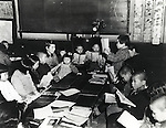 November, 1948 : Japan - Mixed-sex education (also known as coeducation) starts in Japan after World War II. (Photo by Kingendai Photo Library/AFLO)