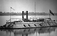 First ironclad gunboat built in America.  The Saint Louis, ca.  1862.  (War Dept.)<br /> Exact Date Shot Unknown