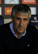 30th October 2017, Cornella-El Prat, Cornella de Llobregat, Barcelona, Spain; La Liga football, Espanyol versus Real Betis; Quique Setien, Real Betis manager;