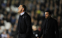 Blackburn Rovers manager Tony Mowbray  shouts instructions to his team from the dug-out<br /> <br /> Photographer /Ashley WesternCameraSport<br /> <br /> The EFL Sky Bet Championship - Fulham v Blackburn Rovers - Tuesday 14th March 2017 - Craven Cottage - London<br /> <br /> World Copyright &copy; 2017 CameraSport. All rights reserved. 43 Linden Ave. Countesthorpe. Leicester. England. LE8 5PG - Tel: +44 (0) 116 277 4147 - admin@camerasport.com - www.camerasport.com