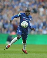 Chelsea's Ngolo Kante<br /> <br /> Photographer Rob Newell/CameraSport<br /> <br /> The Carabao Cup Final - Chelsea v Manchester City - Sunday 24th February 2019 - Wembley Stadium - London<br />  <br /> World Copyright © 2018 CameraSport. All rights reserved. 43 Linden Ave. Countesthorpe. Leicester. England. LE8 5PG - Tel: +44 (0) 116 277 4147 - admin@camerasport.com - www.camerasport.com