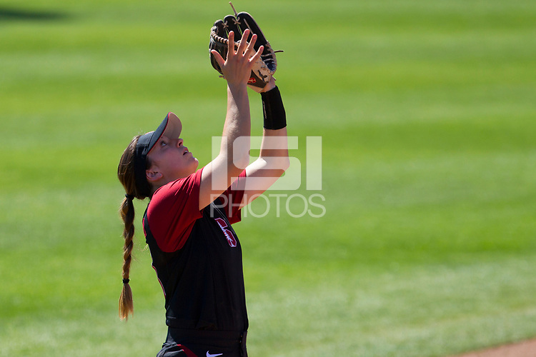 Stanford, CA - March 29, 2017: Stanford Women's softball faces off against the University of Utah at Boyd and Jill Smith Family Stadium in Palo Alto, California. Stanford lost 4-11 to Utah.