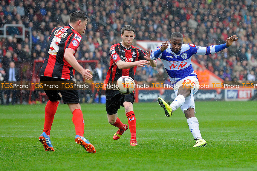 David Hoilett of Queens Park Rangers gets a shot away in the second half - AFC Bournemouth vs Queens Park Rangers QPR - Sky Bet Championship Football at the Goldsands Stadium, Bournemouth, Dorset - 05/04/14 - MANDATORY CREDIT: Denis Murphy/TGSPHOTO - Self billing applies where appropriate - 0845 094 6026 - contact@tgsphoto.co.uk - NO UNPAID USE
