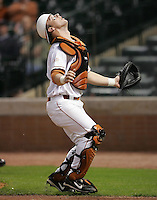 Texas Longhorns Catcher Cameron Rupp during the 2008 season. Photo by Andrew Woolley / Four Seam Images.