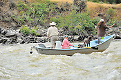 Fishermen & Women floating the Upper Colorado River fishing between Rancho Del Rio and State Bridge on July 26, 2014.