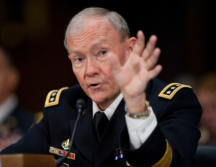 WASHINGTON, DC - July 26: Army Gen. Martin E. Dempsey during the Senate Armed Services hearing on his nomination to be chairman of the Joint Chiefs of Staff. (Photo by Scott J. Ferrell/Congressional Quarterly)