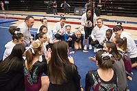 Stanford, California - January 26, 2015: Stanford Women's Gymnastics vs Oregon State on Monday night at Maples Pavilion.