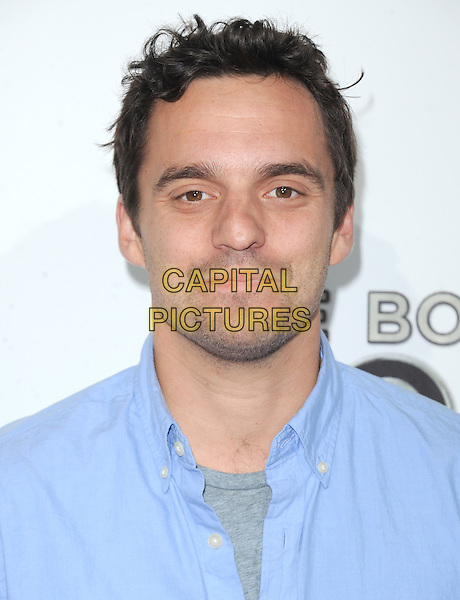 "Jake Johnson.""The Book of Mormon"" Hollywood Opening night Held At The Pantages theatre, Hollywood, California, USA..September 12th, 2012.headshot portrait blue shirt stubble facial hair .CAP/DVS.©DVS/Capital Pictures."