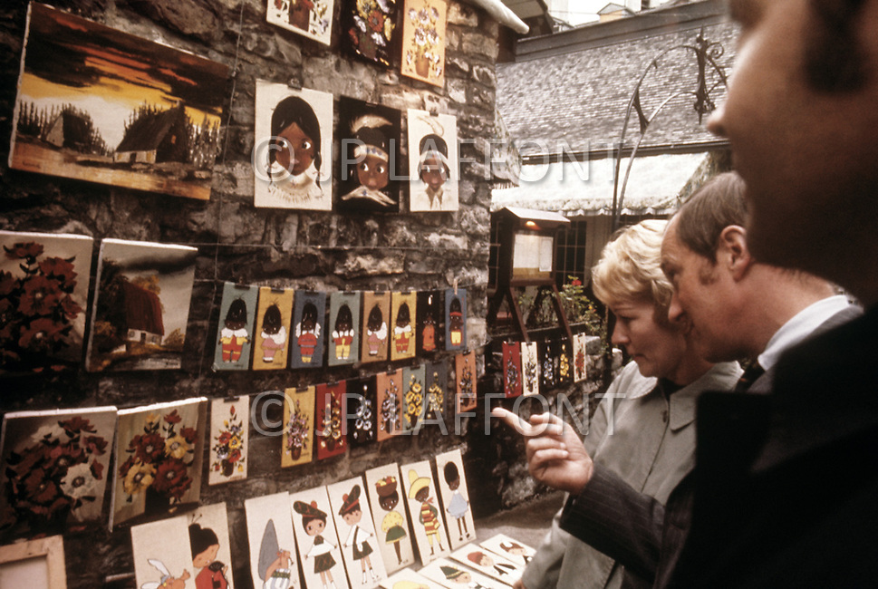 Montreal, Canada, March 1978. Street markets.