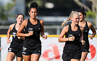 Kaitlin Cotter (L) and Katie Doar. Blacksticks Women's training game v Chile ahead of the 2019 FIH International Pro League Tournament, Grammar Hockey Turf, Auckland, New Zealand. Monday 17  December 2018. Photo: Simon Watts/Hockey NZ