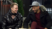Shane Jenek - AKA Courtney Act &amp; Andrew Brady<br /> Celebrity Big Brother 2018 - Day 8<br /> *Editorial Use Only*<br /> CAP/KFS<br /> Image supplied by Capital Pictures
