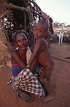 Somali father and child, Wajir, Somaliland, Kenya$