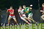 Paul Geaney goes for goal in the dying minutes of the Munster U21 Football Championship Final held on Wednesday night in Pairc Ui Rinn Cork.