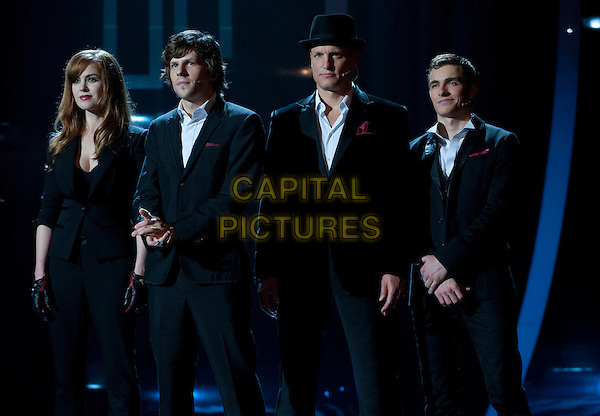 ISLA FISHER, JESSE EISENBERG, WOODY HARRELSON & DAVE FRANCO.in Now You See Me (2013) .*Filmstill - Editorial Use Only*.CAP/NFS.Supplied by Capital Pictures.