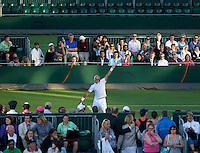 Ross Hutchins GBR (16)/ Stephen Huss AUS (16) against Prakash Amritraj IND / Aisam-Ul-Haq Qureshi PAK in the first round of the gentlemen's doubles. Amritaj/Qureshi beat Huss/Hutchins 6-4 7-6 6-4 3-6 6-3..Tennis - Wimbledon - Day 2 - Tues 23rd June 2009 - All England Lawn Tennis Club  - Wimbledon - London - United Kingdom..Frey Images, Barry House, 20-22 Worple Road, London, SW19 4DH.Tel - +44 20 8947 0100.Cell - +44 7843 383 012