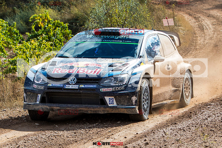 Sébastien Ogier/Julien Ingrassia (Volkswagen Polo R WRC) during the World Rally Car RACC Catalunya Costa Dourada 2016 / Rally Spain, in Catalunya, Spain. October 15, 2016. (ALTERPHOTOS/Rodrigo Jimenez) NORTEPHOTO.COM