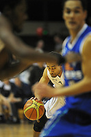 Hawks forward Mika Vukona drives up the court. NBL Semifinal - Wellington Saints v Nelson Giants at TSB Bank Arena, Wellington, New Zealand on Friday, 15 July 2011. Photo: Dave Lintott / lintottphoto.co.nz