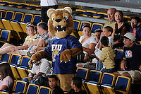 27 September 2008:  FIU mascot Roary entertains fans during the FIU 3-0 (25-13, 25-23, 25-18) victory in straight sets over Troy at Golden Panther Arena in Miami, Florida.