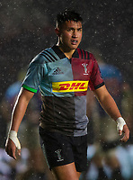 Harlequins' Marcus Smith<br /> <br /> Photographer Bob Bradford/CameraSport<br /> <br /> European Rugby Challenge Cup Pool 5 - Harlequins v Benetton Treviso - Saturday 15th December 2018 - Twickenham Stoop - London<br /> <br /> World Copyright © 2018 CameraSport. All rights reserved. 43 Linden Ave. Countesthorpe. Leicester. England. LE8 5PG - Tel: +44 (0) 116 277 4147 - admin@camerasport.com - www.camerasport.com