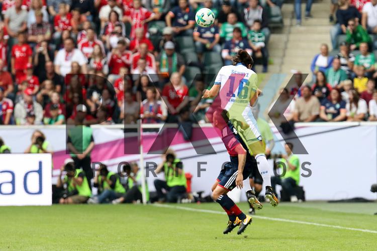 Hoffenheims Nico Schulz (Nr.16) hoch zum Kopfball  beim Telekom Cup 2017 Bayern Muenchen - TSG Hoffenheim.<br /> <br /> Foto &copy; PIX-Sportfotos *** Foto ist honorarpflichtig! *** Auf Anfrage in hoeherer Qualitaet/Aufloesung. Belegexemplar erbeten. Veroeffentlichung ausschliesslich fuer journalistisch-publizistische Zwecke. For editorial use only.