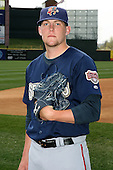 April 11, 2010:  Pitcher Drew Storen (21) of the Harrisburg Senators prior to a game at Blair County Ballpark in Altoona, PA.  Harrisburg is the Double-A affiliate of the Washington Nationals.  Photo By Mike Janes/Four Seam Images