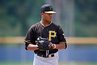 Pittsburgh Pirates relief pitcher Sergio Cubilete (28) gets ready to deliver a pitch during a Florida Instructional League game against the Toronto Blue Jays on September 20, 2018 at the Englebert Complex in Dunedin, Florida.  (Mike Janes/Four Seam Images)