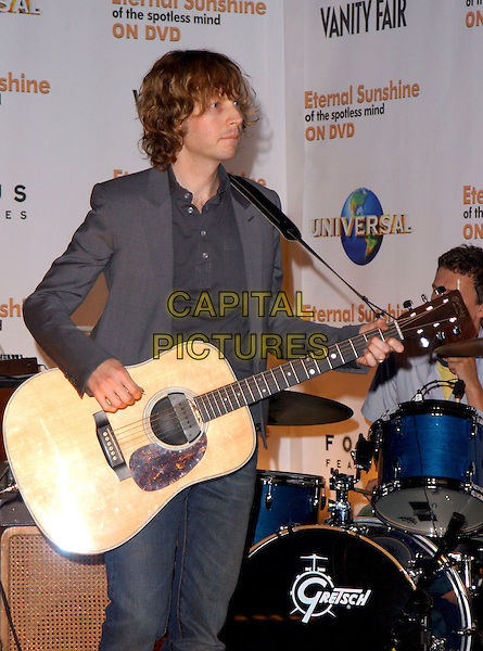 """BECK.The Universal Studios Home Video, Focus Features DVD Launch Party of """"Eternal Sunshine of the Spotless Mind"""" held at the medical offices of Lacuna Inc. in Los Angeles, California .September 23,2004.half length, stage, concert, performing, live, gig, guitar.www.capitalpictures.com.sales@capitalpictures.com. Copyright 2004 by Debbie VanStory"""