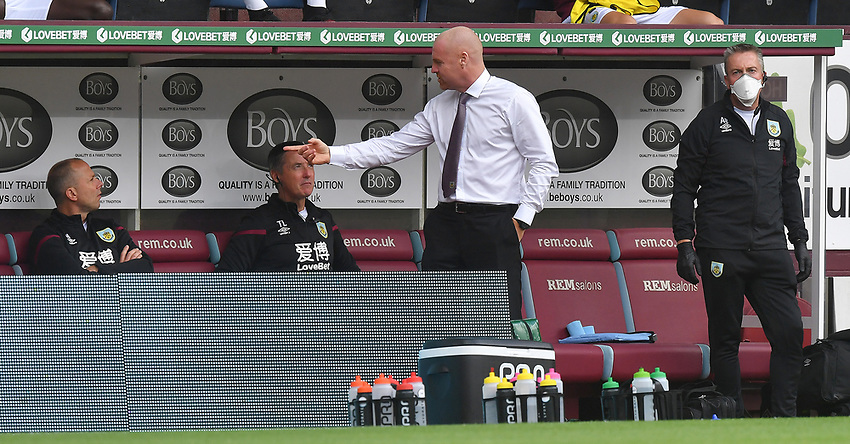 Burnley's Manager Sean Dyche<br /> <br /> Photographer Dave Howarth/CameraSport<br /> <br /> The Premier League - Burnley v Brighton & Hove Albion - Sunday 26th July 2020 - Turf Moor - Burnley<br /> <br /> World Copyright © 2020 CameraSport. All rights reserved. 43 Linden Ave. Countesthorpe. Leicester. England. LE8 5PG - Tel: +44 (0) 116 277 4147 - admin@camerasport.com - www.camerasport.com