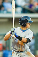 Whit Merrifield #13 of the Wilmington Blue Rocks at bat against the Winston-Salem Dash at BB&T Ballpark on April 23, 2011 in Winston-Salem, North Carolina.   Photo by Brian Westerholt / Four Seam Images