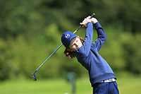 Liam McLoughlin (Co.Sligo) on the 1st tee during the Connacht U12, U14, U16, U18 Close Finals 2019 in Mountbellew Golf Club, Mountbellew, Co. Galway on Monday 12th August 2019.<br /> <br /> Picture:  Thos Caffrey / www.golffile.ie<br /> <br /> All photos usage must carry mandatory copyright credit (© Golffile | Thos Caffrey)