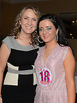 Danielle Caffrey celebrating her 18th birthday in the Westcourt hotel with her mother Leanne. Photo:Colin Bell/pressphotos.ie