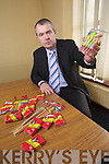 Inspector Dan Keane with some confiscated Frieworks at Tralee Garda Station.