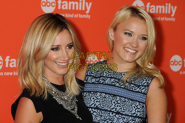 15 July 2014 - Beverly Hills, California - Ashley Tisdale, Emily Osment. Disney/ABC Television Group Summer Press Tour 2014 held at the Beverly Hilton Hotel. <br /> CAP/ADM/BP<br /> &copy;Byron Purvis/AdMedia/Capital Pictures