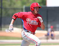 April 1, 2010:  Outfielder Kelly Dugan of the Philadelphia Phillies organization during Spring Training at the Carpenter Complex in Clearwater, FL.  Photo By Mike Janes/Four Seam Images