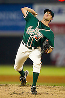 Robert Morey #24 of the Greensboro Grasshoppers in action against the Hickory Crawdads at  L.P. Frans Stadium July 10, 2010, in Hickory, North Carolina.  Photo by Brian Westerholt / Four Seam Images