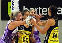 Action from the 2019 ANZ Premiership netball final match between the Central Pulse and Northern Stars at Te Rauparaha Arena in Wellington, New Zealand on Monday, 3 June 2019. Photo: Dave Lintott / lintottphoto.co.nz