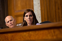 United States Senator Martha McSally (Republican of Arizona) questions Air Force General John Hyten, who is nominated to become Vice Chairman Of The Joint Chiefs Of Staff, during his confirmation hearing before the U.S. Senate Committee on Armed Services on Capitol Hill in Washington D.C., U.S. on July 30, 2019. Credit: Stefani Reynolds/CNP/AdMedia