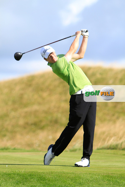 Stuart Grehan (Tullamore) on the 14th tee during the South of Ireland Amateur Open Championship Third Round at Lahinch Golf Club  29th July 2013 <br /> Picture:  Thos Caffrey / www.golffile.ie