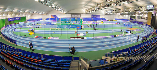 28.02.2016. EIS Sheffield, Sheffield, England. British Indoor Athletics Championships Day Two. General view of the Indoor Athletics Track, English Institute of Sport.