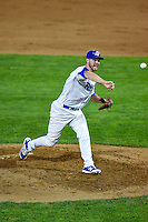 Conor Costello (29) of the Ogden Raptors delivers a pitch to the plate against the Billings Mustangs in Pioneer League action at Lindquist Field on August 12, 2016 in Ogden, Utah. Billings defeated Ogden 7-6. (Stephen Smith/Four Seam Images)