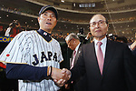 (L-R)  Hiroki Kokubo (JPN), Sadaharu Oh,  <br /> MARCH 15, 2017 - WBC : 2017 World Baseball Classic Second Round Pool E Game between Japan 8-3 Israel at Tokyo Dome in Tokyo, Japan. <br /> (Photo by Sho Tamura/AFLO SPORT)