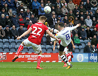 Preston North End's Alan Browne has ann attempt on goal<br /> <br /> Photographer Mick Walker/CameraSport<br /> <br /> The EFL Sky Bet Championship - Preston North End v Bristol City - Saturday 2nd March 2019 - Deepdale Stadium - Preston<br /> <br /> World Copyright © 2019 CameraSport. All rights reserved. 43 Linden Ave. Countesthorpe. Leicester. England. LE8 5PG - Tel: +44 (0) 116 277 4147 - admin@camerasport.com - www.camerasport.com